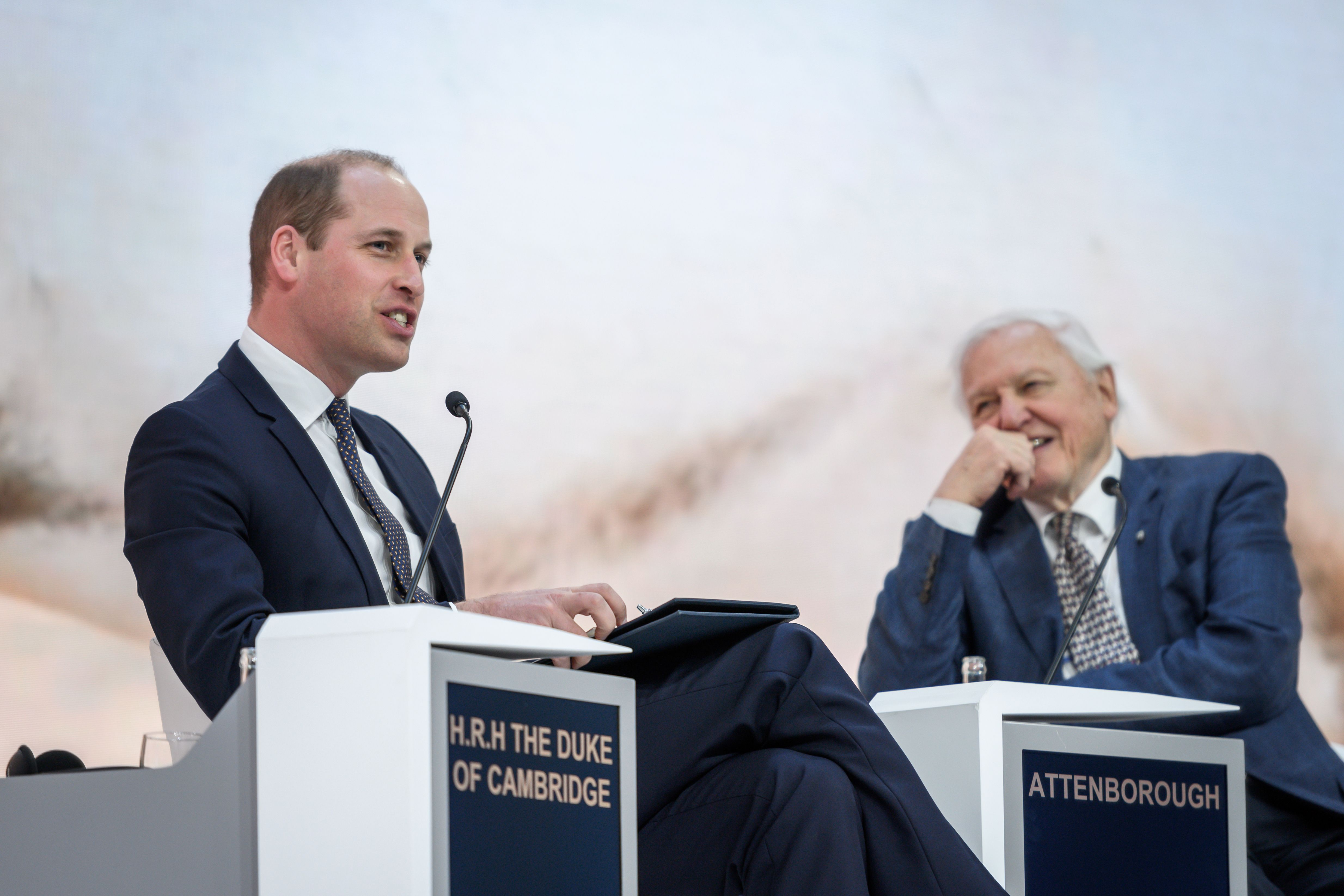 Watch Prince William And David Attenborough Talk At The World Economic Forum In Davos