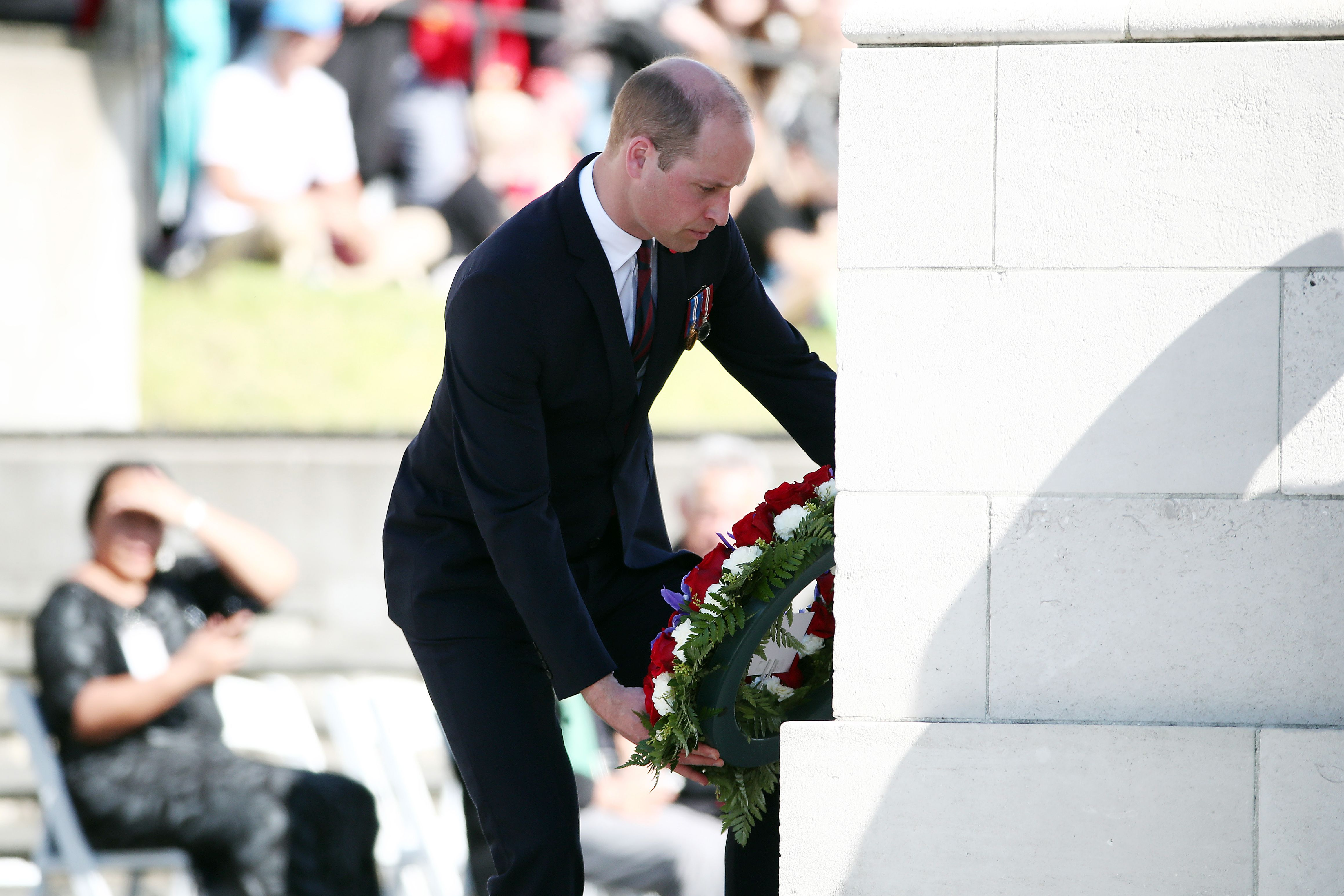 prince william lays wreath at anzac day civil service in new zealand