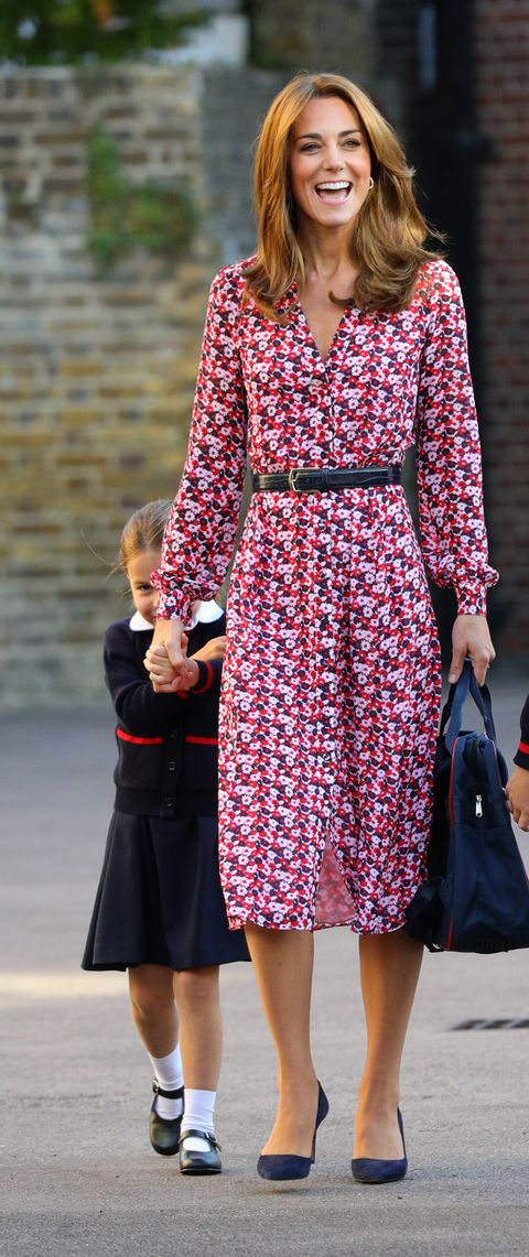 Kate Middleton Debuts New, Lighter Hair For Princess Charlotte's First Day of School