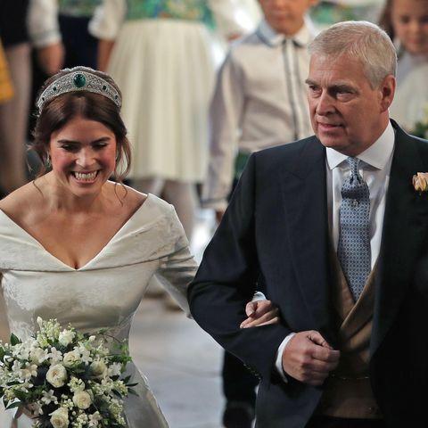 princess eugenie prince andrew wedding happy father's day