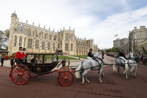 BRITAIN-ROYALS-WEDDING-EUGENIE-PROCESSION