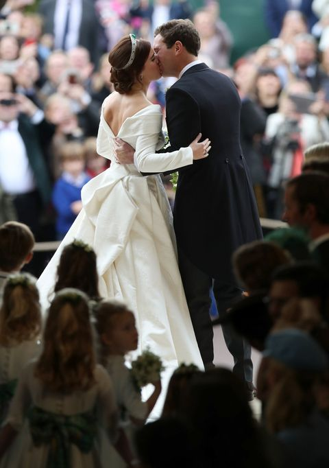 b2e1378a Royal Family at Princess Eugenie Jack Brooksbank Wedding - Photos of ...