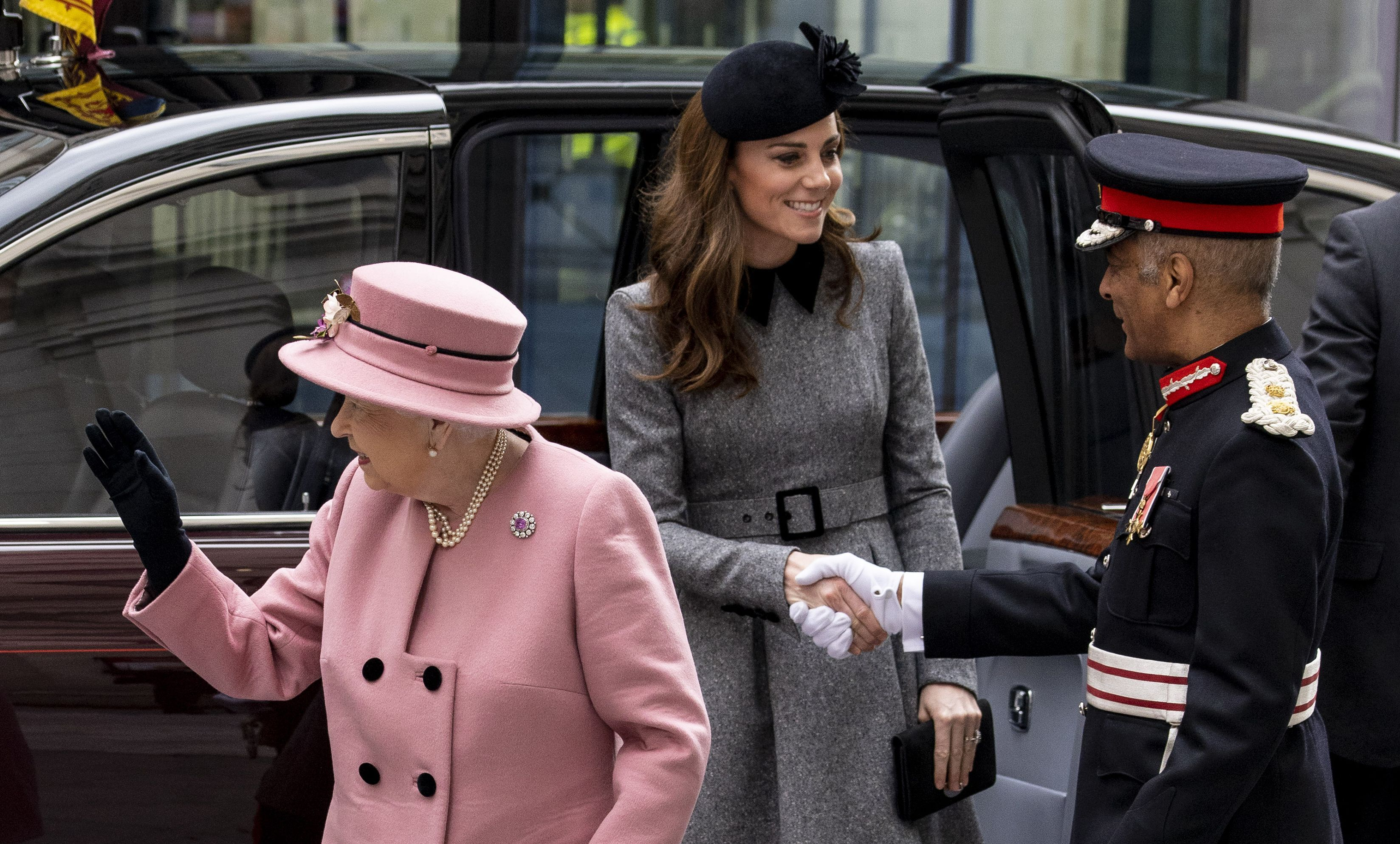 See All the Best Photos of Kate Middleton and Queen Elizabeth's Visit to Kings College London Today