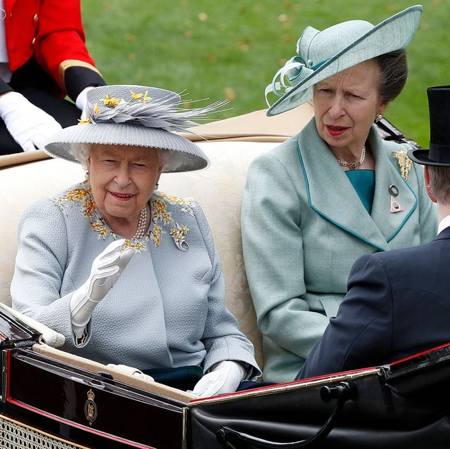 queen elizabeth princess anne royal ascot ladies day