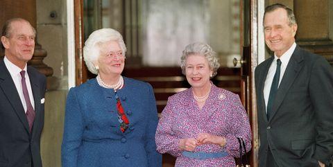 Britain's Queen Elizabeth II (2ndR) and Prince Phi