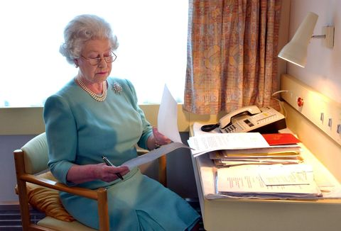 britain's queen elizabeth ii at work abo