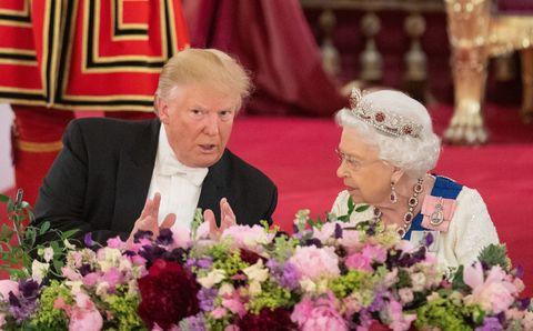 queen elizabeth donald trump state banquet