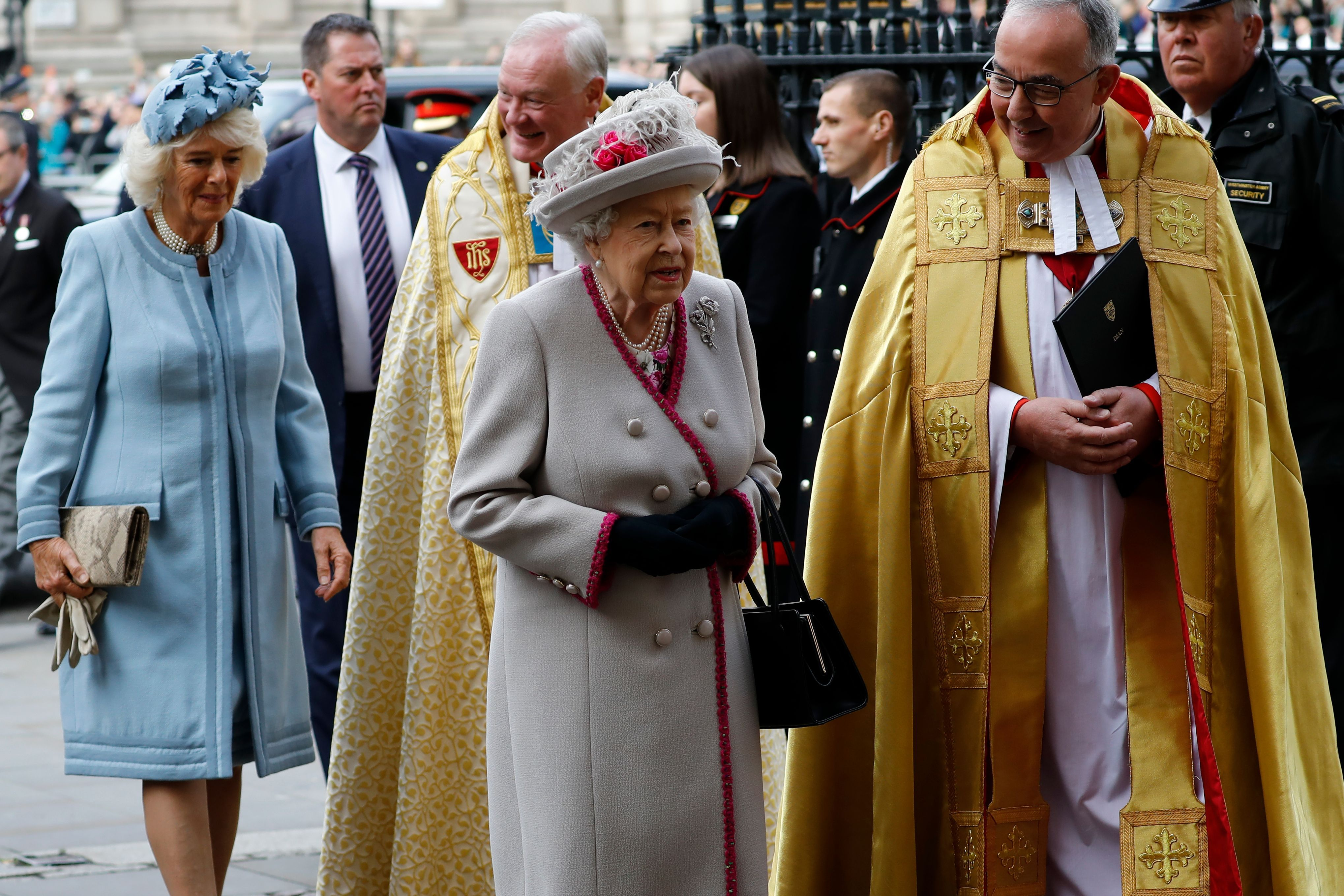 See All the Photos of Queen Elizabeth and Camilla at Westminster Abbey This Morning