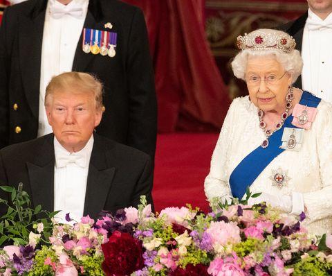 queen elizabeth president trump