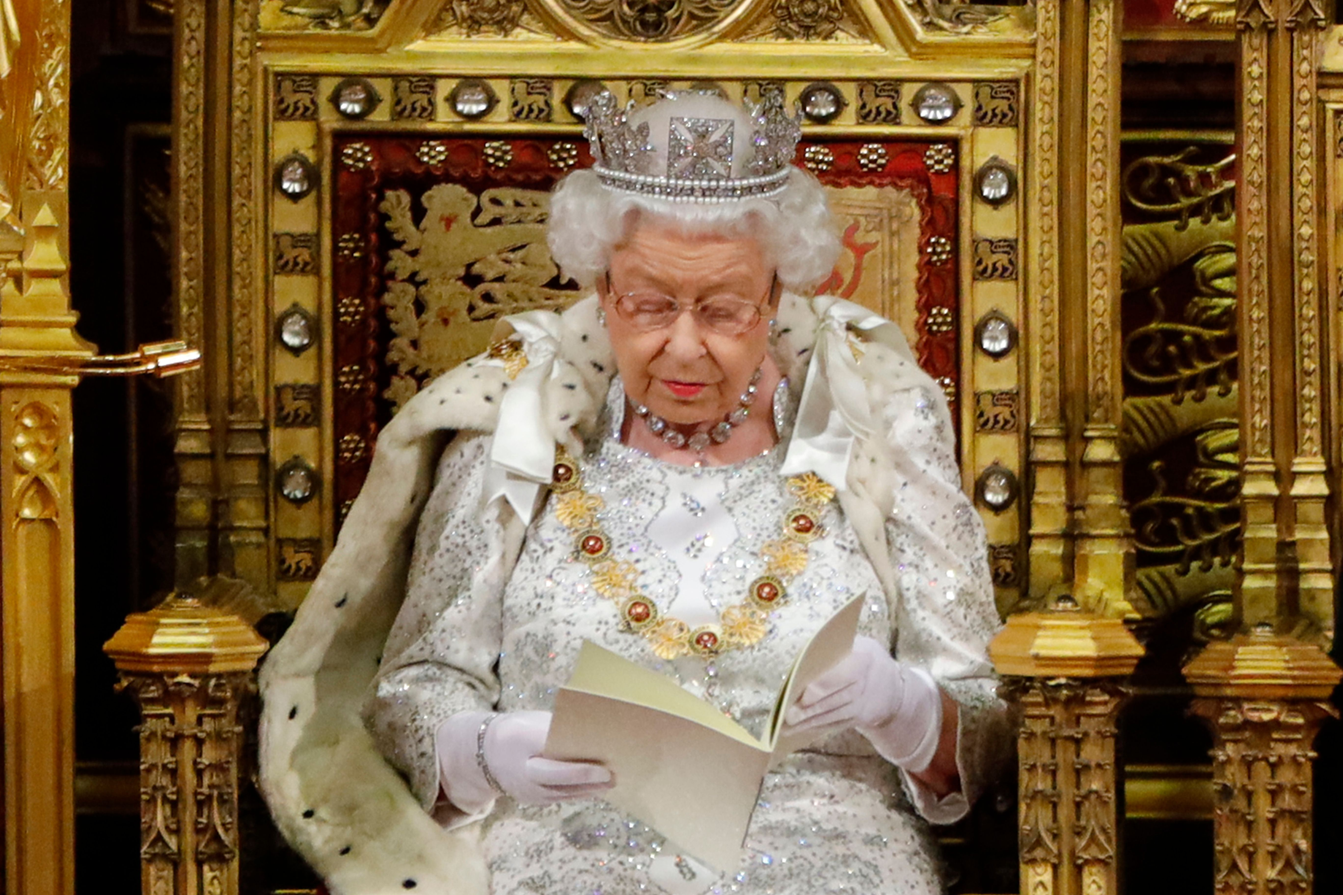 Queen Elizabeth Delivered the Customary Queen's Speech at the State Opening of Parliament