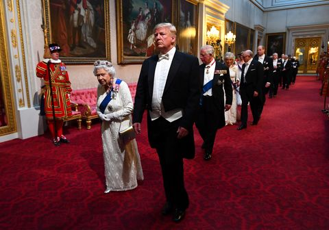 queen elizabeth prince charles  more royals with donald