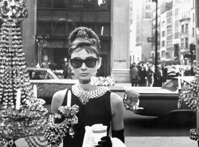 on the set of breakfast at tiffany's