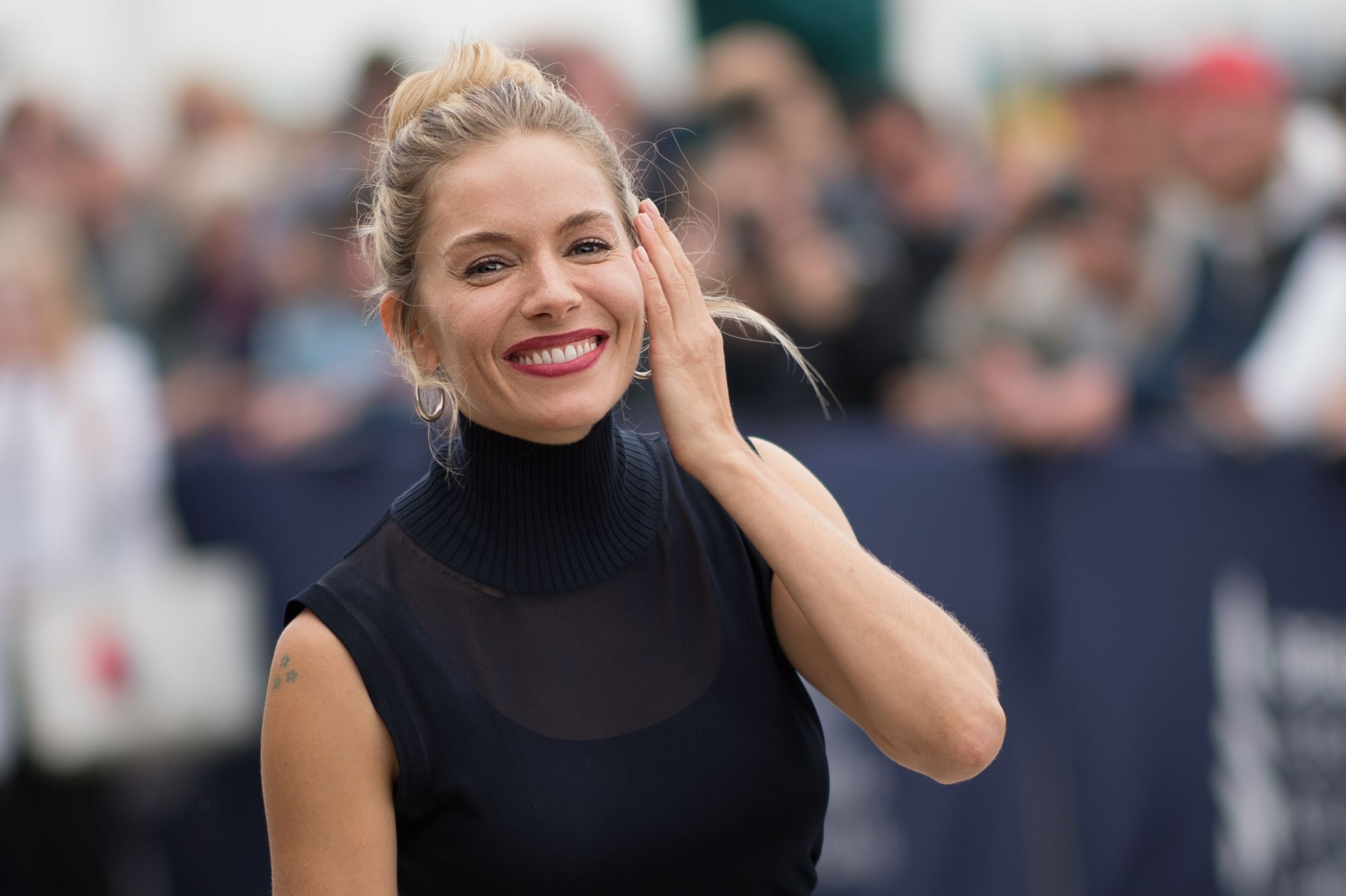 Sienna Miller is here to convince you to wear platforms again