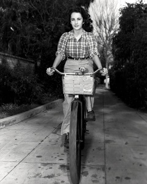 taylor on bicycle