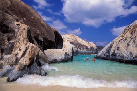 British Virgin Island, Virgin Gorda, The Baths, Granite Rock
