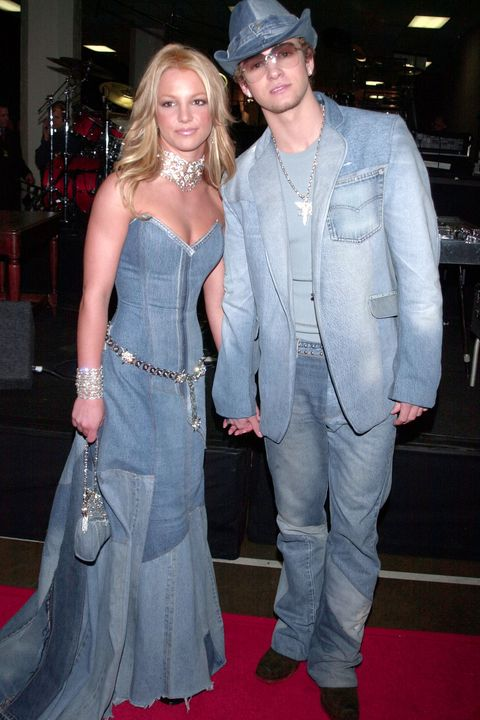 d743132b13b Britney Spears and Justin Timberlake wearing double denim in 2001