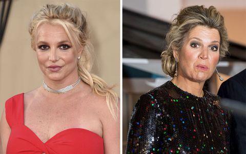Britney Spears y la reina Máxima de Holanda