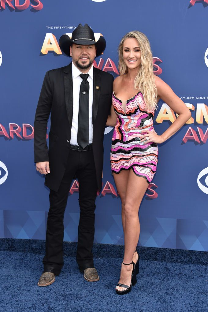 jason aldean, brittany kerr, red carpet, acm awards