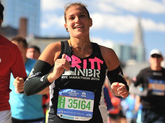 Brittany runs a marathon':