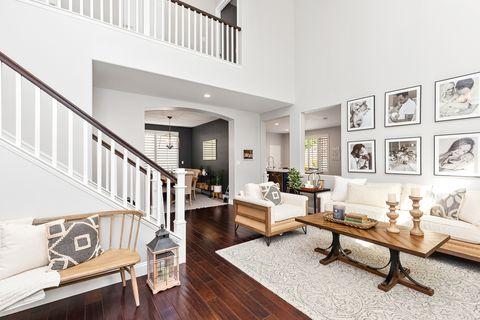 Property, Building, Interior design, Living room, Furniture, Ceiling, House, Floor, Home,