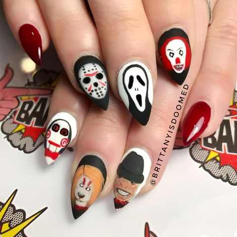 image - 21 Halloween Nail Art Ideas 2018 - Cute Nail Designs For Halloween