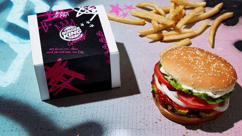 Junk food, Fast food, Hamburger, Food, Cheeseburger, Dish, Burger king premium burgers, Veggie burger, French fries, Fried food,