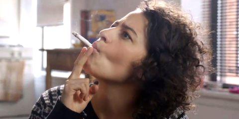 Hair, Face, Nose, Lip, Eyebrow, Beauty, Cheek, Smoking, Hairstyle, Chin,