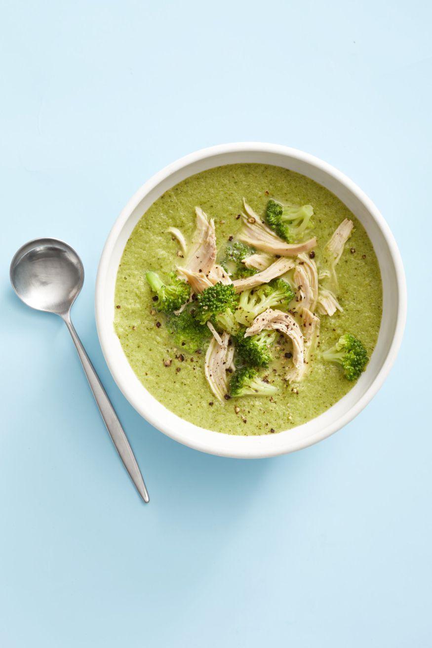 Broccoli-Parmesan Chicken Soup