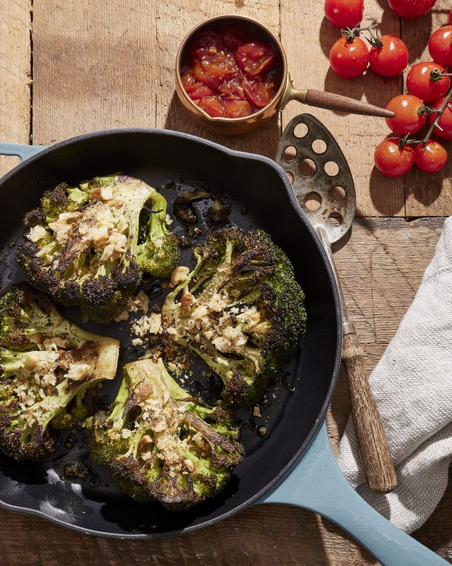 broccoli steaks with spiced tomato jam