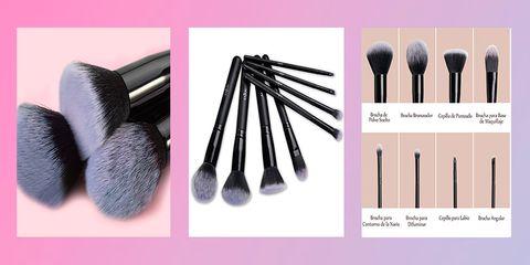 Brush, Makeup brushes, Eye shadow, Cosmetics, Product, Pink, Eyebrow, Beauty, Eye, Tool,