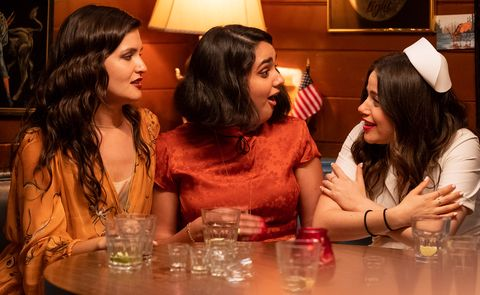 roommates nadine phillipa soo  lucy geraldine viswanathan  and amanda molly gordon at amanda's birthday party in tristar pictures' the broken hearts gallery