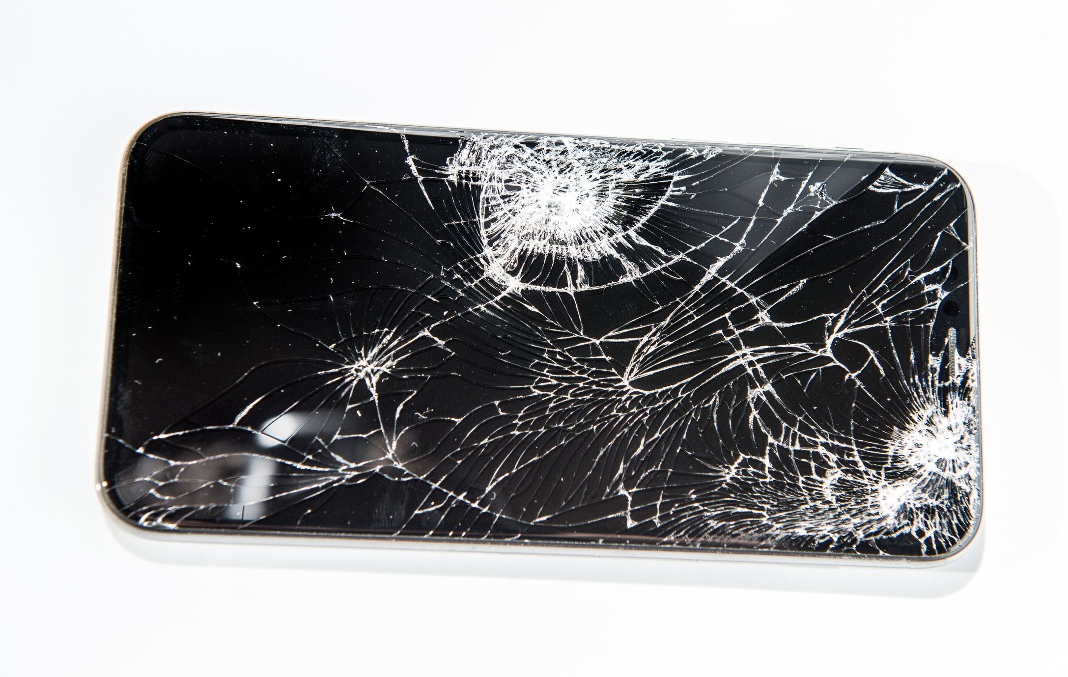 fix iphone screen how to fix a cracked screenbroken phone on white background