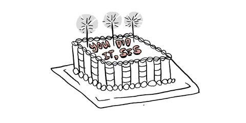 Text, Cake, Sweetness, Dessert, Font, Cake decorating supply, Cake decorating, Sugar cake, Baked goods, Black-and-white,