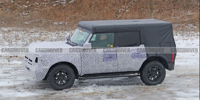 2021 Ford Bronco Four-Door Spied Playing in the Snow
