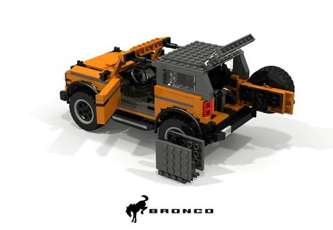 2021 ford bronco in legos