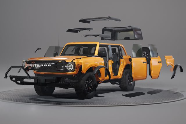 exclusive bronco® two  and four door modular platform allows owners to easily create the 4x4 of their dreams, whether it's a simple grille change and new fender flares or building out a full custom machine