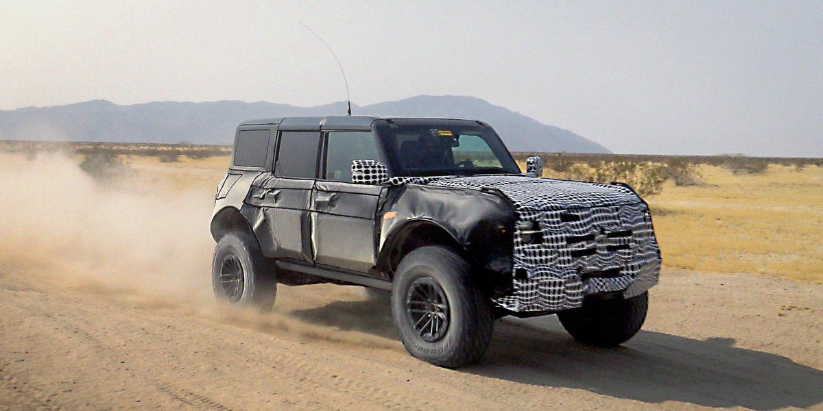 Ford Released Its Own Bronco Spy Shot, Showing High-Performance Variant