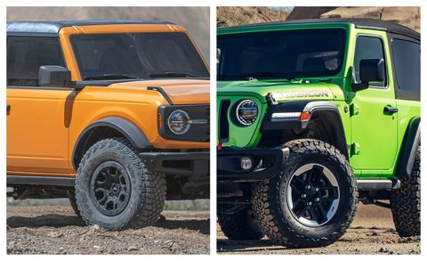 2021 ford bronco and 2021 jeep wrangler
