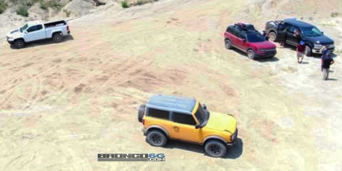 Both Ford Broncos Spied from the Air as Official Reveal Approaches