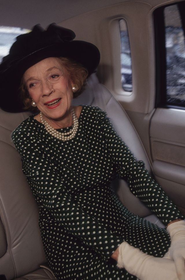 original caption new york, new york brooke astor in her limousine, while going to construction site for housing and homeless photo by mark petersoncorbis via getty images