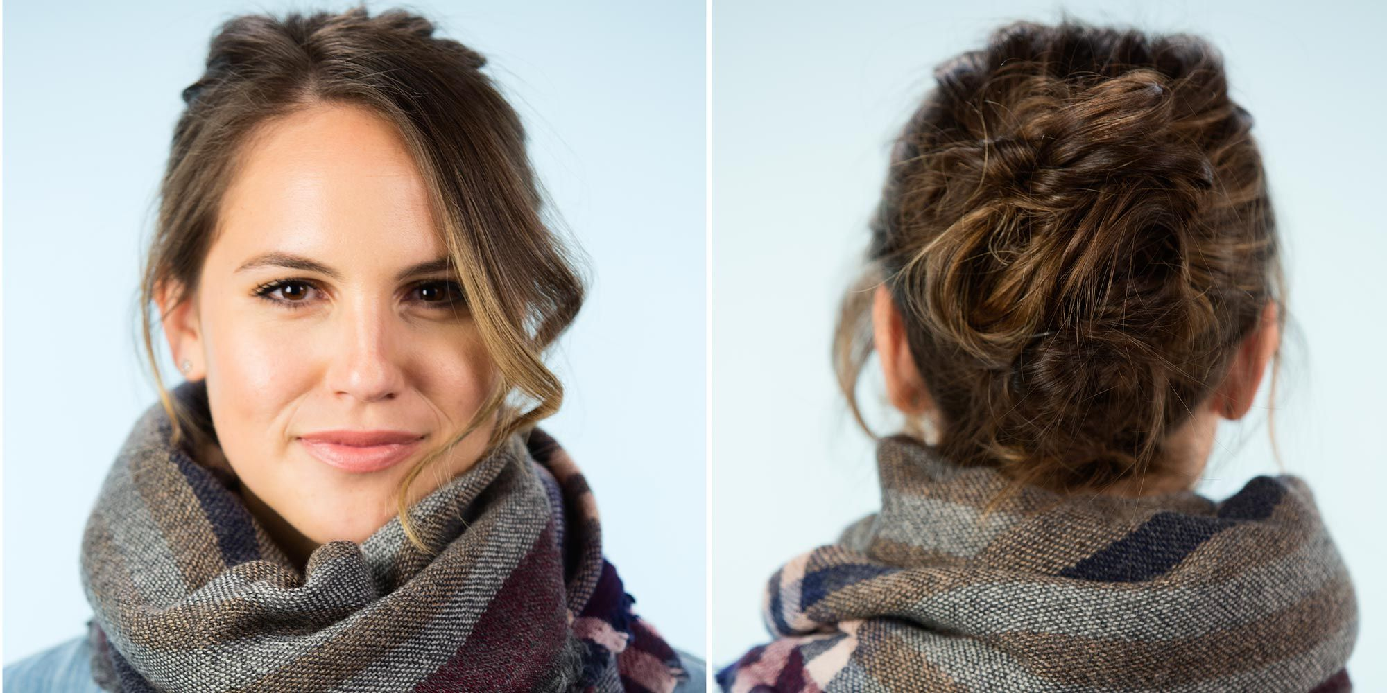 6 Super-Easy Hairstyles to Wear With Scarves