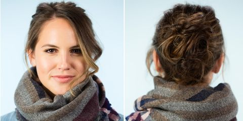 6 Super Easy Hairstyles To Wear With Scarves