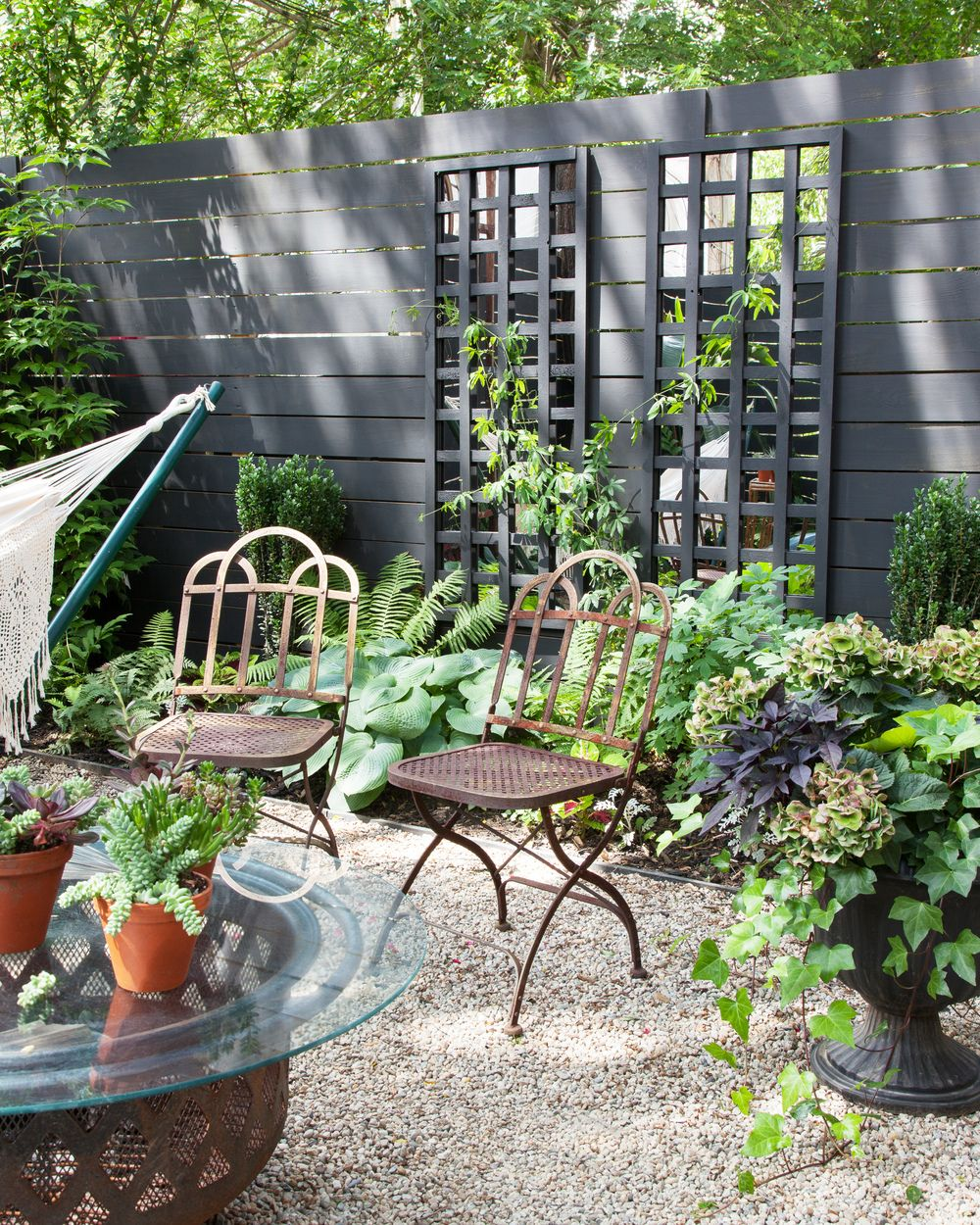 Vertical Garden Design With Gazebo Installation brooklyn back patio black fence