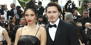 Brooklyn Beckham y Hanna Cross en el Festival de Cannes de 2019.
