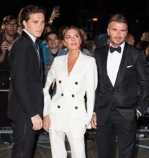 Victoria Beckham, David Beckham y Brooklyn Bekcham