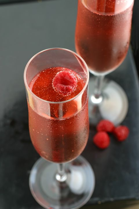 Pink Champagne with Raspberry