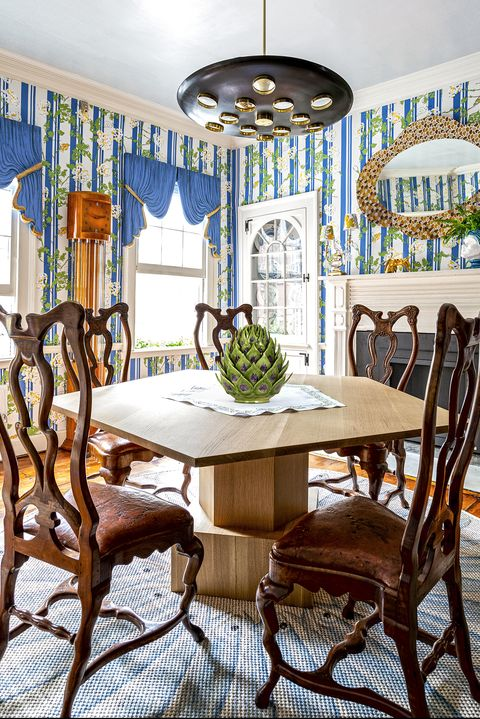 Dining room, Room, Furniture, Interior design, Green, Table, Property, Kitchen & dining room table, Home, Chair,