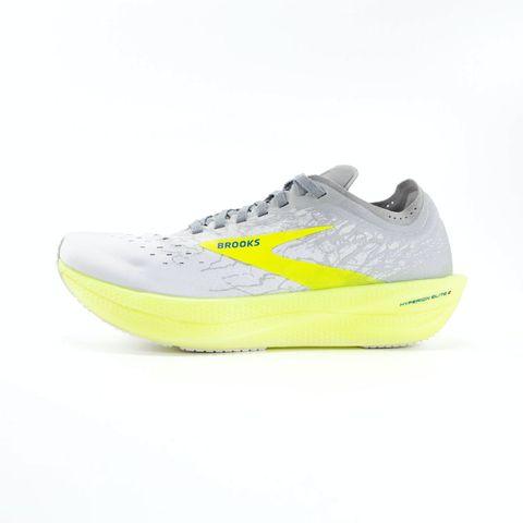 brooks hyperion elite 2 hardloopschoenen schoenen hardlopen unisex geel grijs