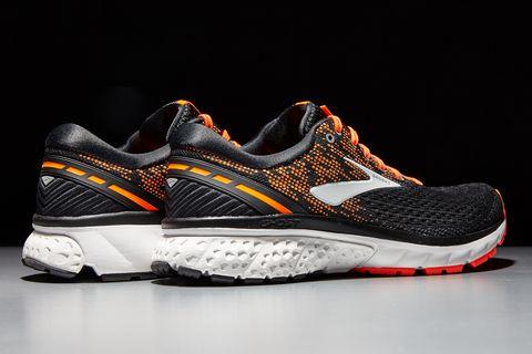 Shoe, Footwear, Outdoor shoe, Running shoe, White, Sneakers, Sportswear, Orange, Walking shoe, Black,