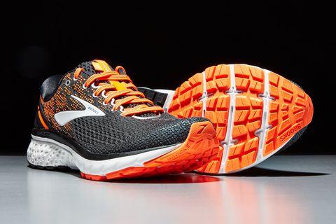 Footwear, Orange, Shoe, Sportswear, Sneakers, Athletic shoe, Nike free, Tennis shoe, Outdoor shoe, Running shoe,